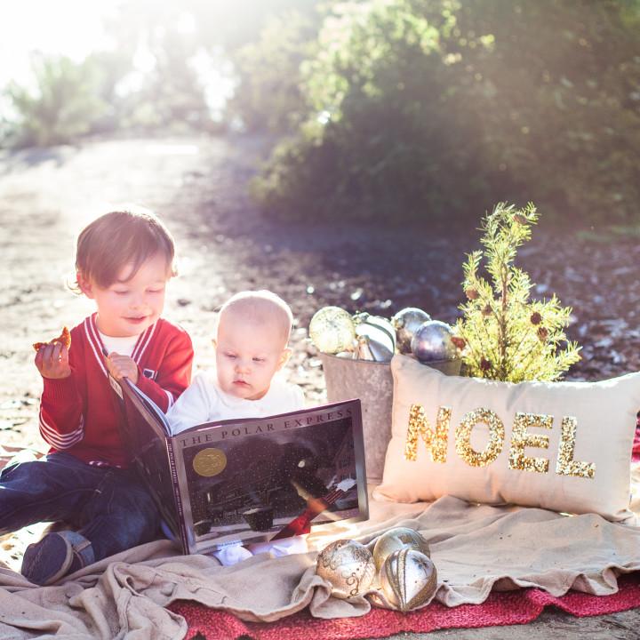 Dayton & Mallory's Christmas Portraits | Quail Gardens in Encinitas, CA