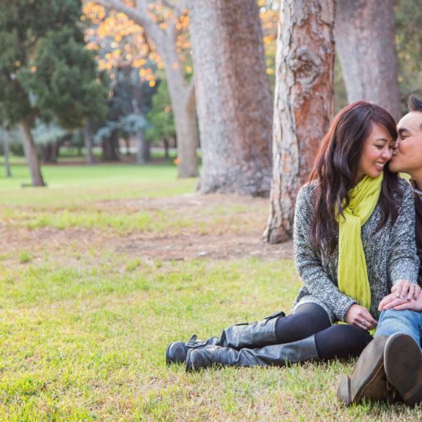 A Proposal: Chris & Priscilla | Lacy Park in San Marino, CA