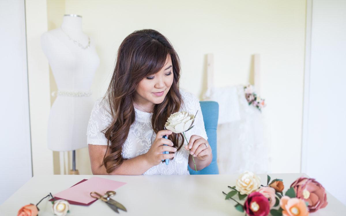 Vendor Highlight: Handmade by Sara Kim || Bridal Headpieces & Paper Flowers