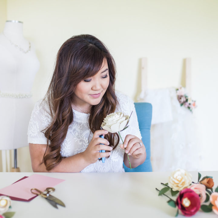 Vendor Highlight: Handmade by Sara Kim || Bridal Headpieces & Paper Flowers