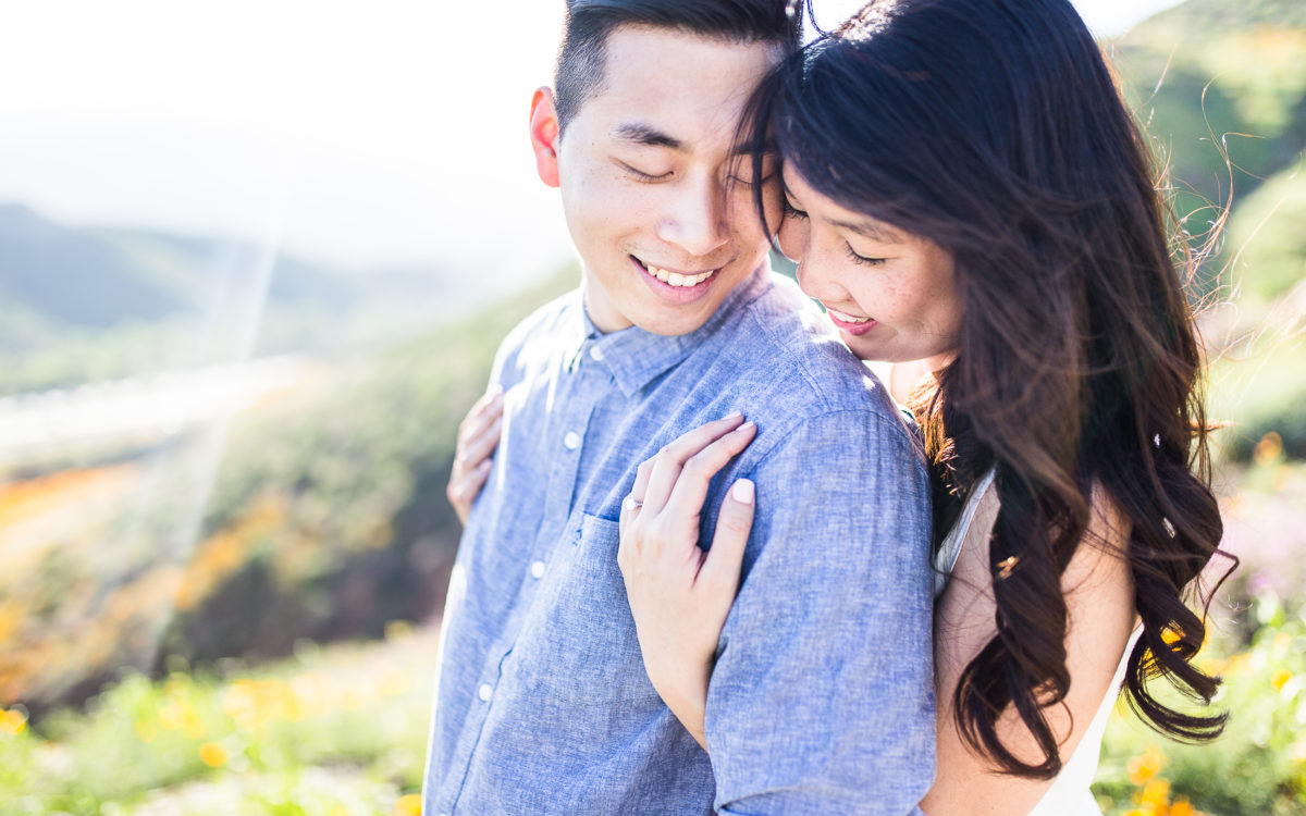 Arnold & Jessica's Flower Field Engagement in Southern California